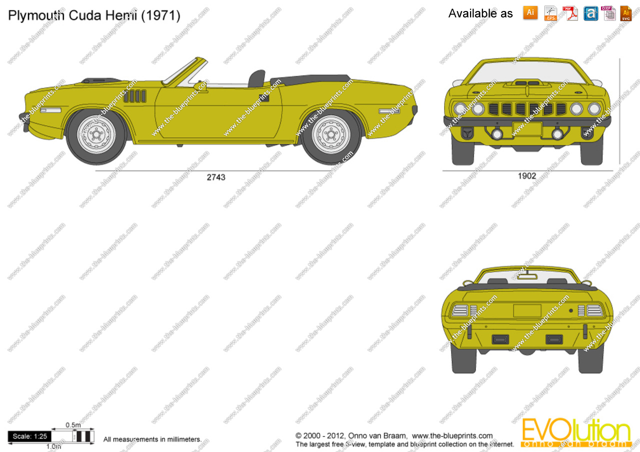 Plymouth Barracuda svg #11, Download drawings