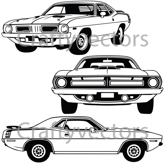 Plymouth Barracuda svg #14, Download drawings