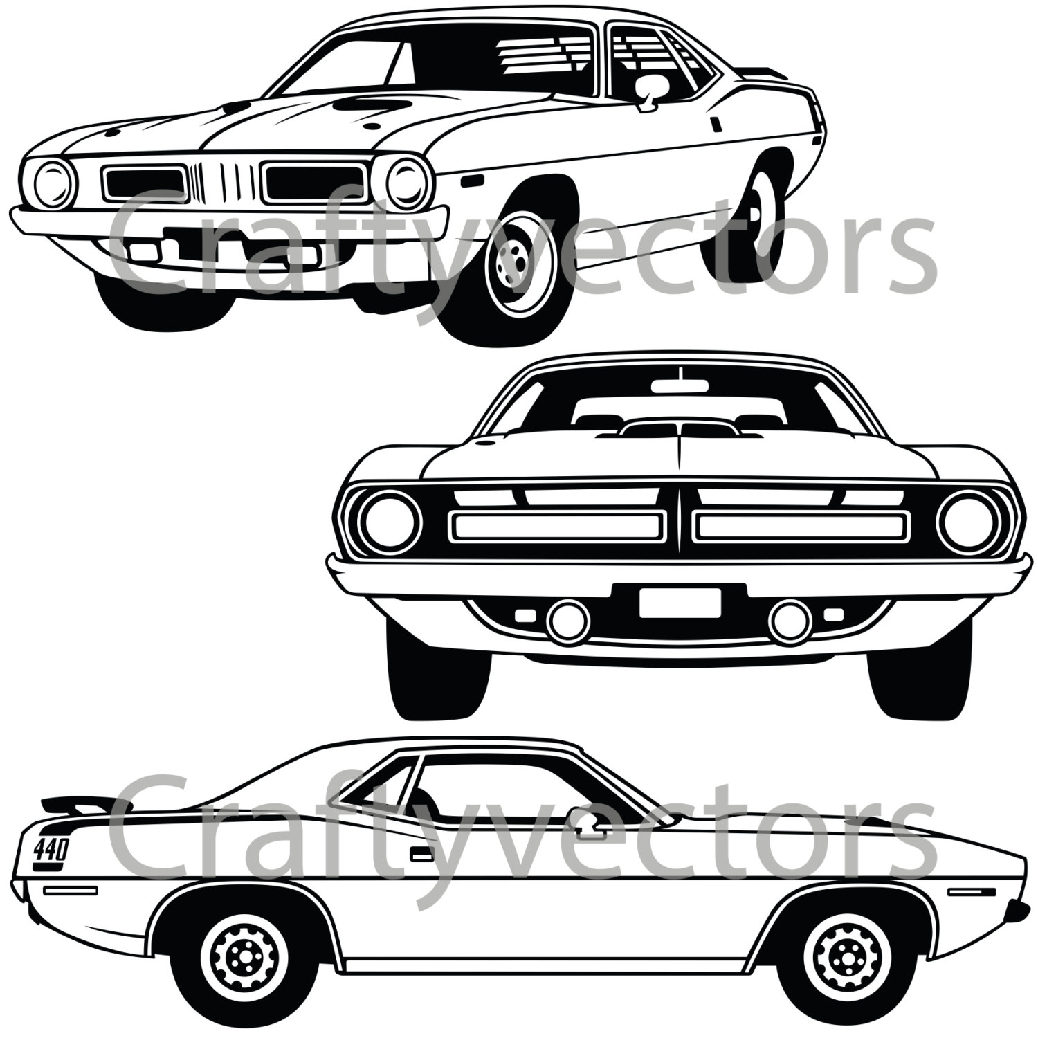 Plymouth Barracuda svg #13, Download drawings