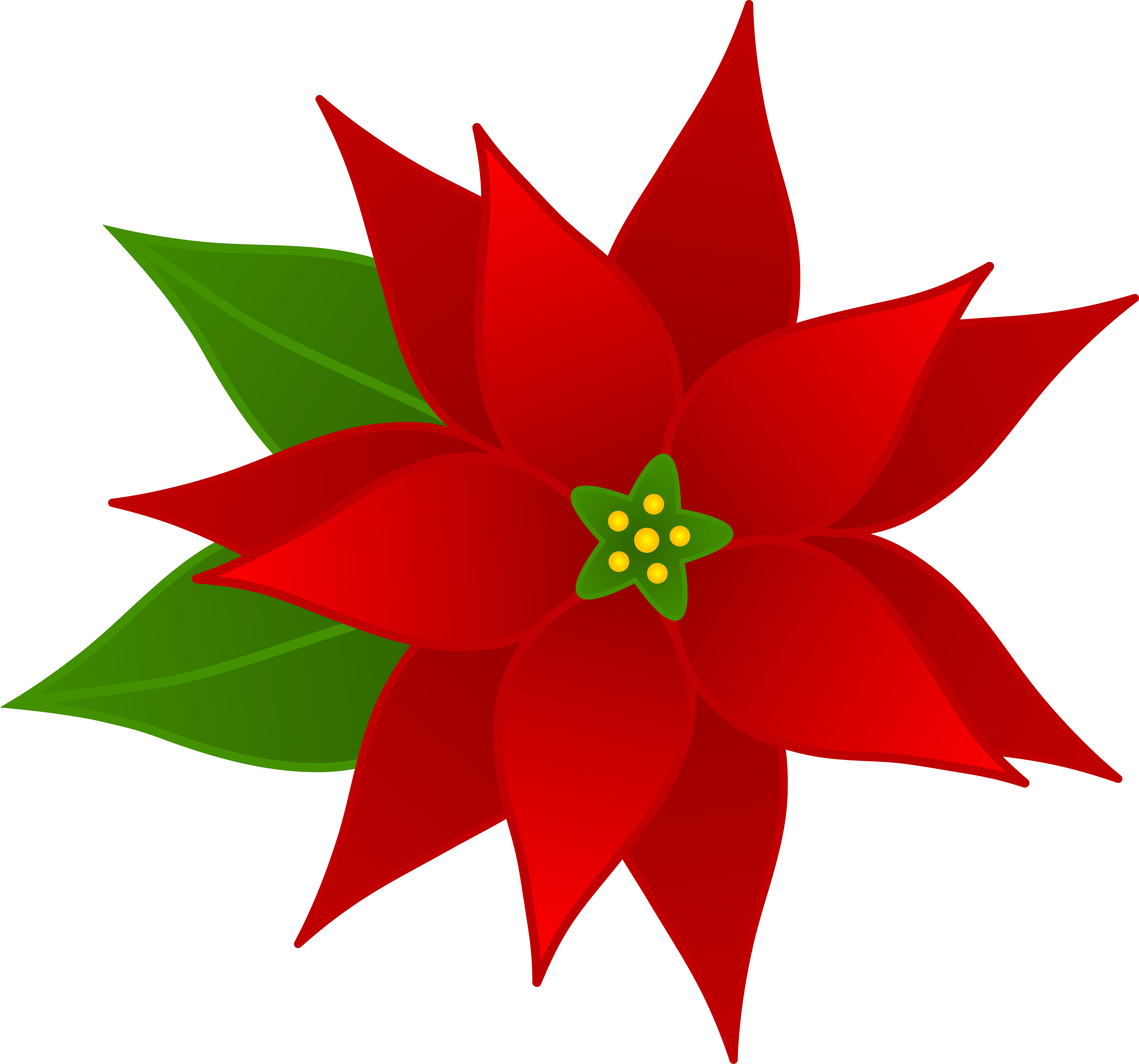 Poinsettia clipart #3, Download drawings