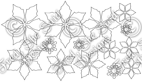 Poinsettia svg #2, Download drawings