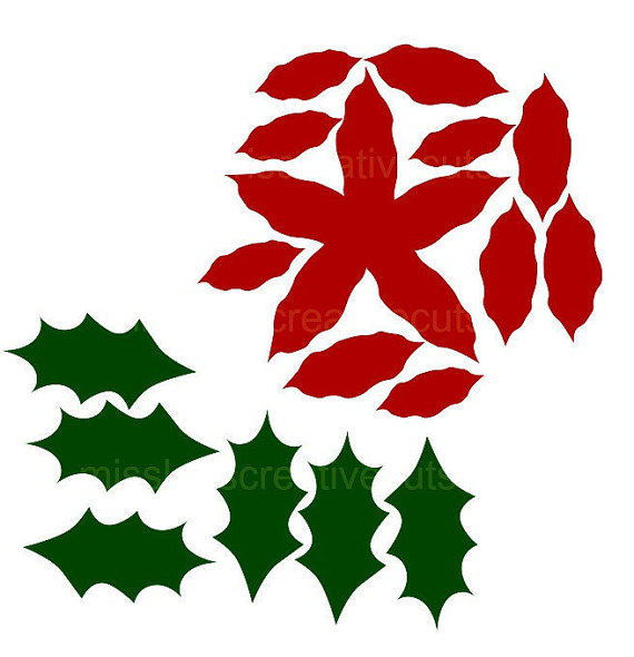 Poinsettia svg #14, Download drawings