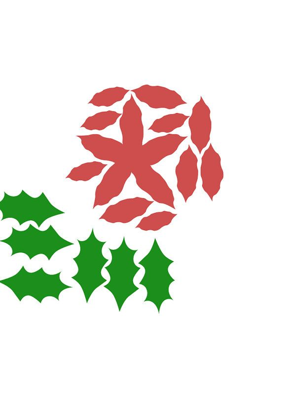 Poinsettia svg #9, Download drawings