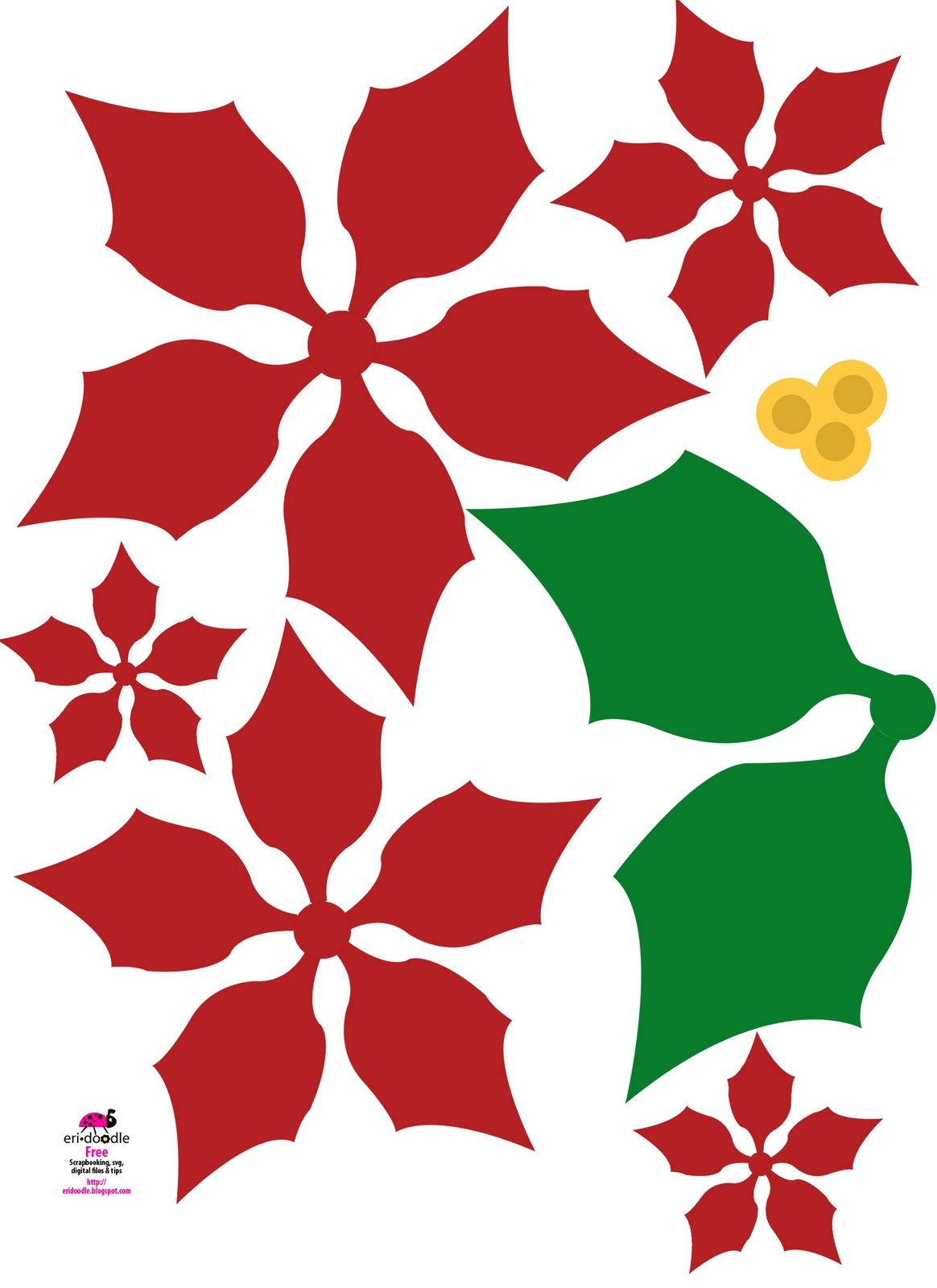 Poinsettia svg #20, Download drawings