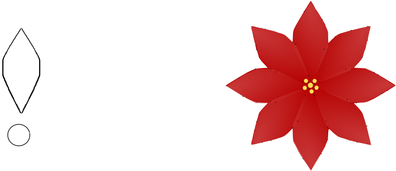 Poinsettia svg #1, Download drawings
