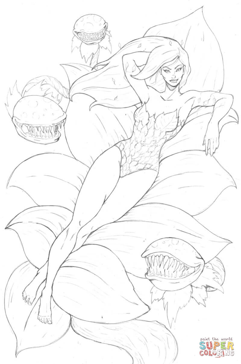 Poison Ivy coloring #6, Download drawings
