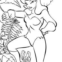 Poison Ivy coloring #10, Download drawings