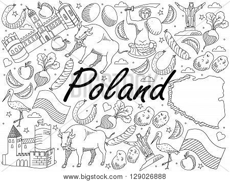 Poland coloring #3, Download drawings