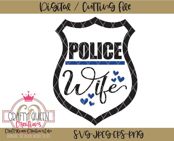 police wife svg #394, Download drawings