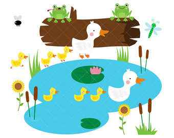 Pond clipart #5, Download drawings