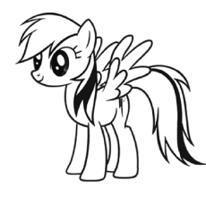 Pony coloring #1, Download drawings