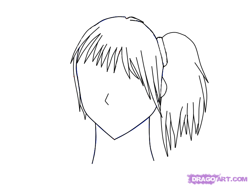 Ponytail coloring #15, Download drawings