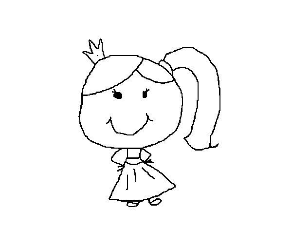 Ponytail coloring #6, Download drawings