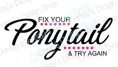 Ponytail svg #16, Download drawings