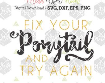 Ponytail svg #7, Download drawings