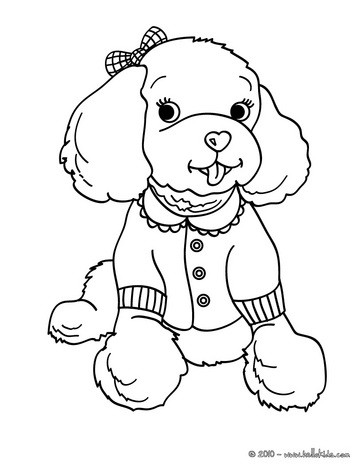 Poodle coloring #17, Download drawings