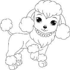 Poodle coloring #13, Download drawings