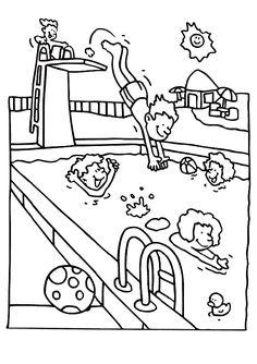 Pool coloring #7, Download drawings