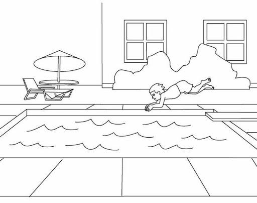 Pool coloring #4, Download drawings