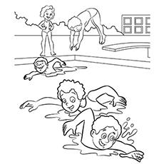 Pool coloring #12, Download drawings