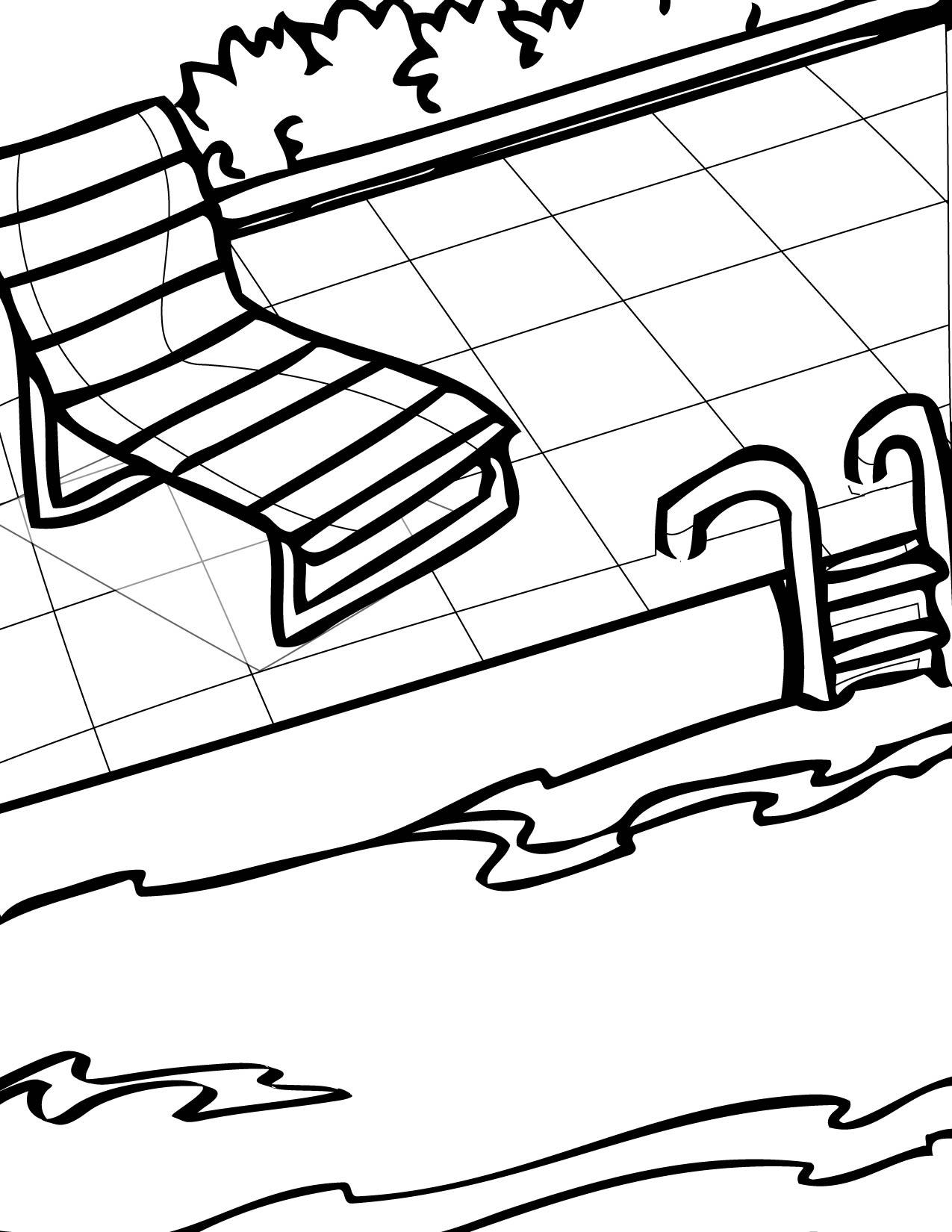 Pool coloring #16, Download drawings
