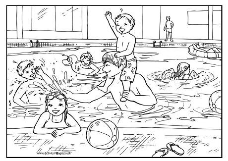 Pool coloring #9, Download drawings