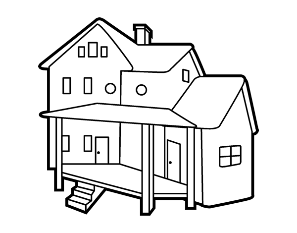 Porch coloring #13, Download drawings