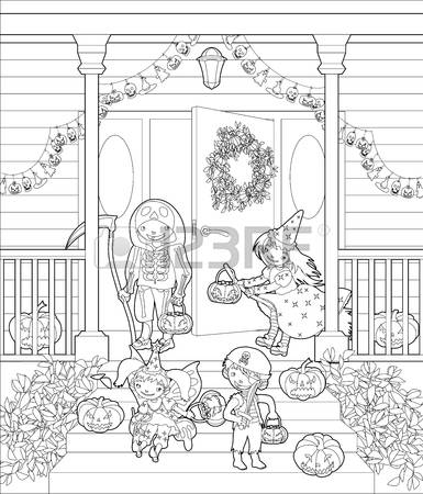 Porch coloring #7, Download drawings