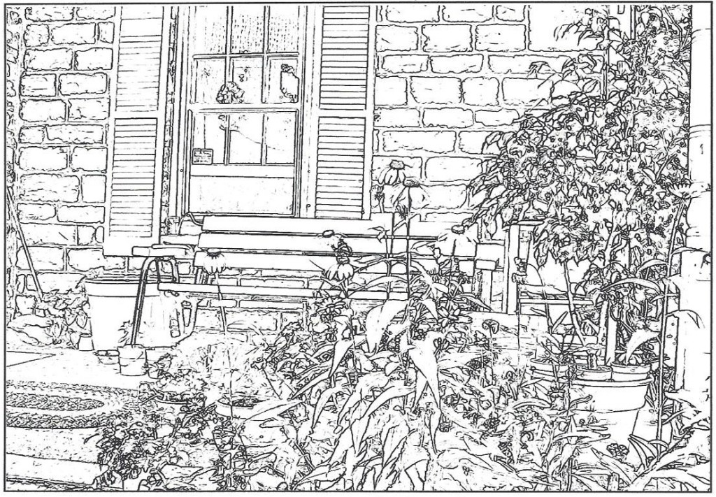 Porch coloring #1, Download drawings