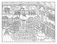 Porch coloring #9, Download drawings