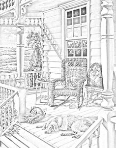Porch coloring #14, Download drawings