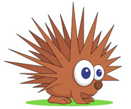 Porcupine clipart #2, Download drawings
