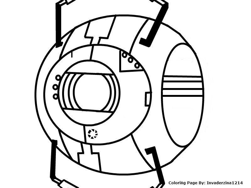 Portal coloring #1, Download drawings