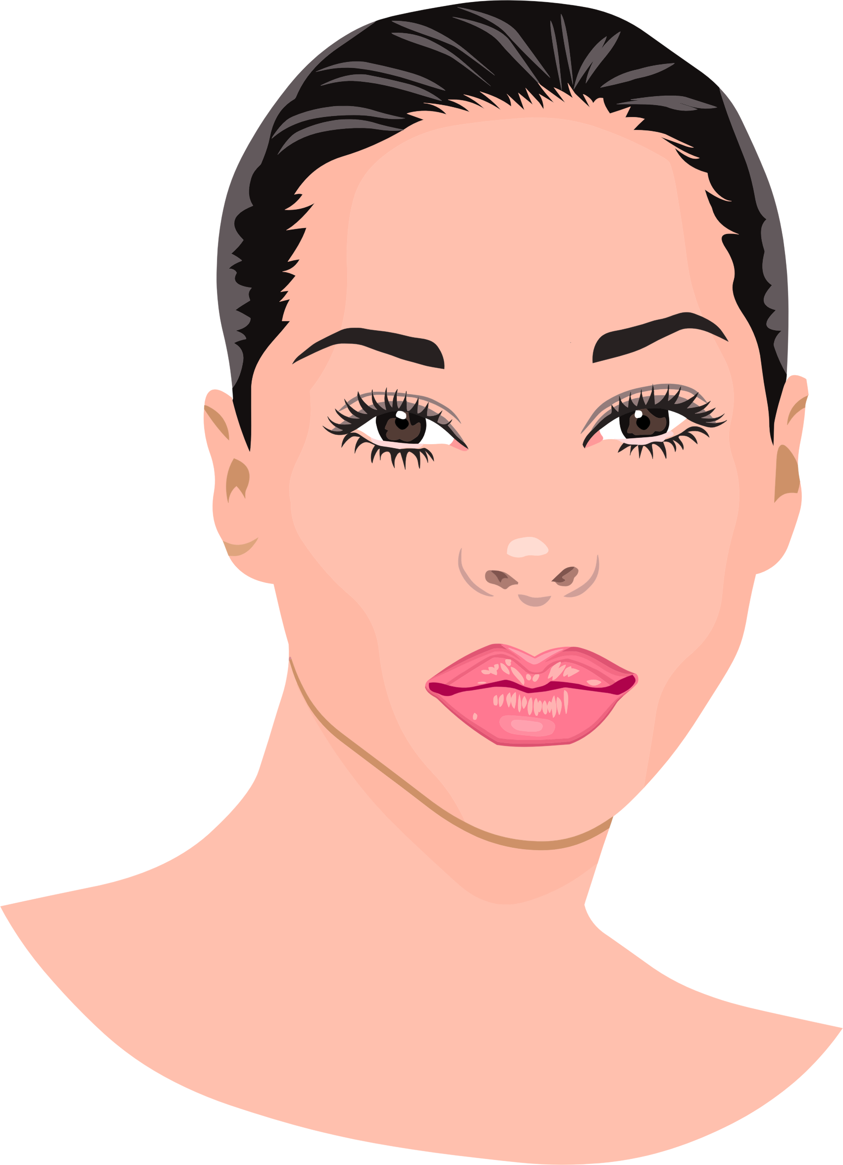 Portrait clipart #3, Download drawings