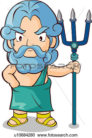 Poseidon clipart #18, Download drawings