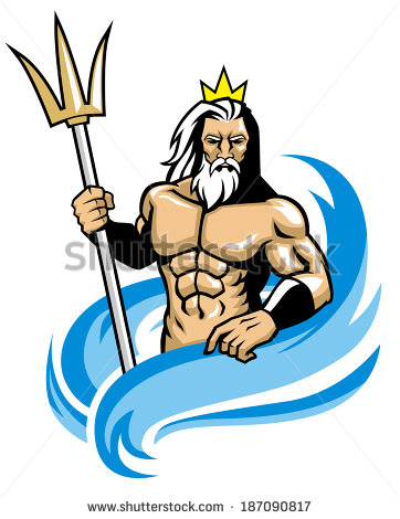 Poseidon clipart #10, Download drawings