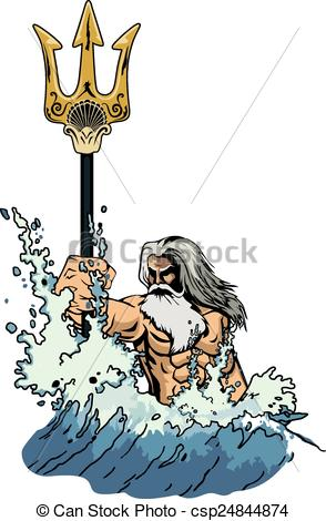 Poseidon clipart #9, Download drawings