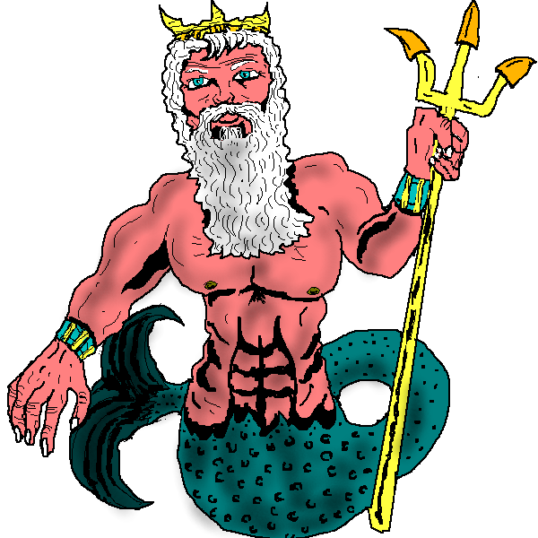 Poseidon clipart #3, Download drawings