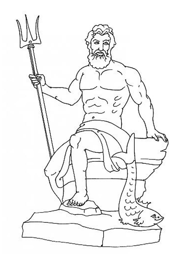 Poseidon coloring #19, Download drawings