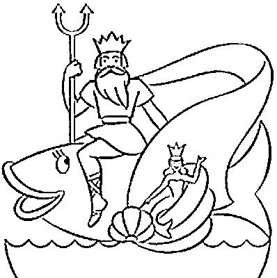 Poseidon coloring #6, Download drawings