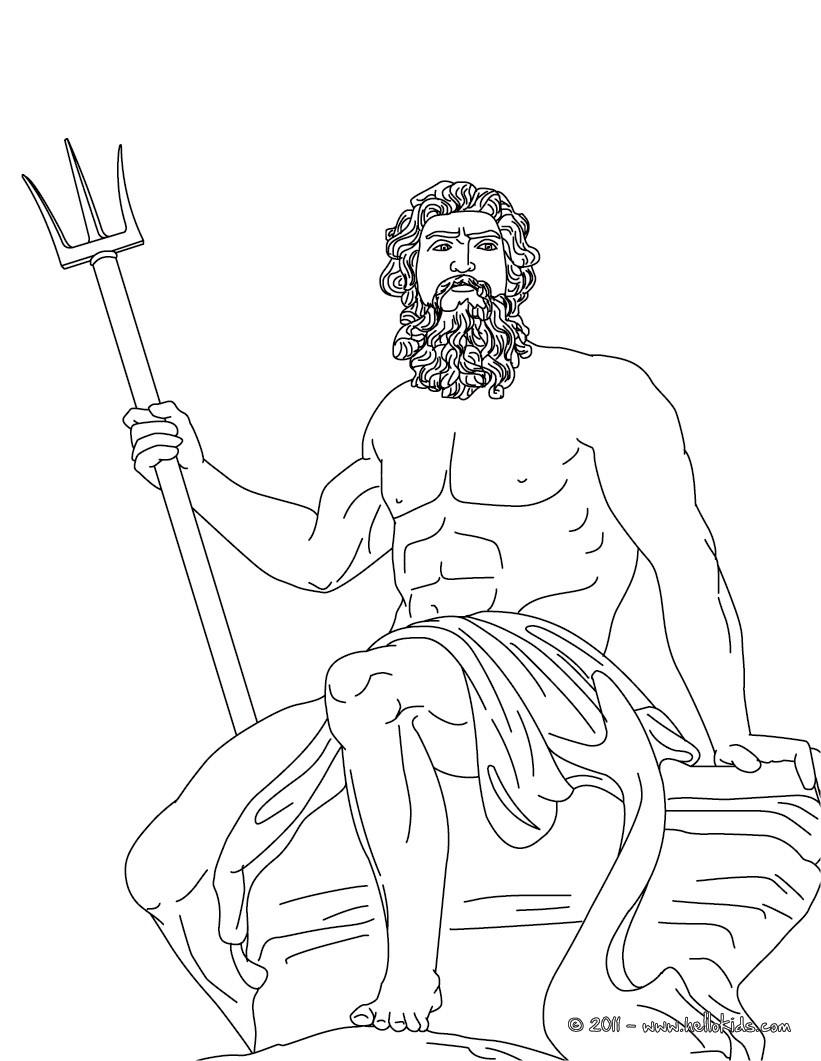 Poseidon coloring #13, Download drawings
