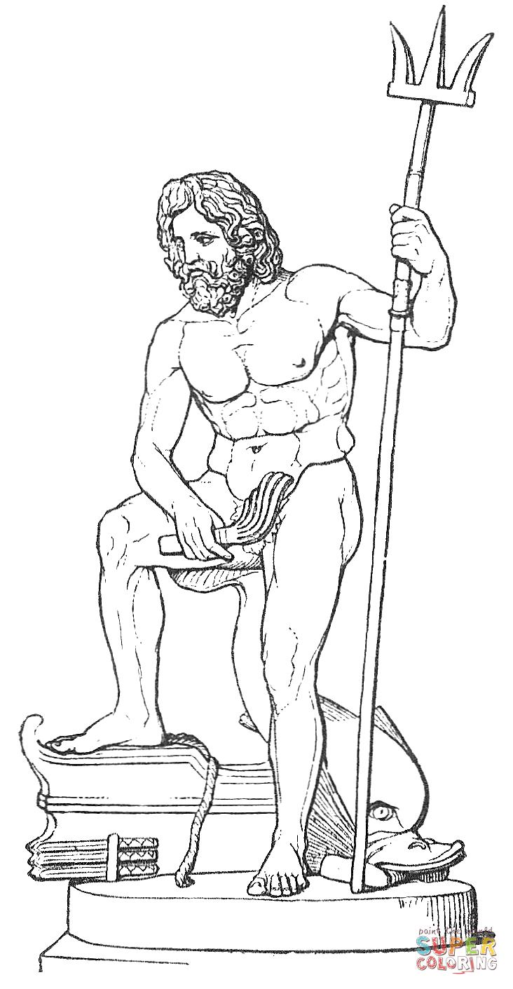 Poseidon coloring #14, Download drawings