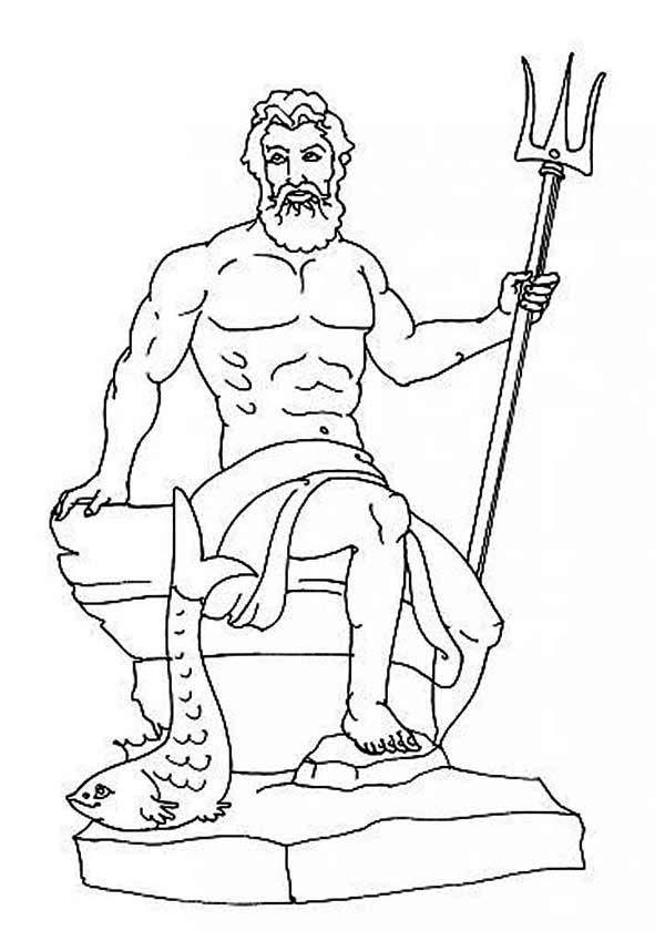 Poseidon coloring #18, Download drawings