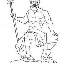 Poseidon coloring #17, Download drawings