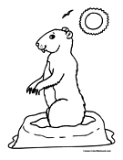 Prairie Dog coloring #5, Download drawings