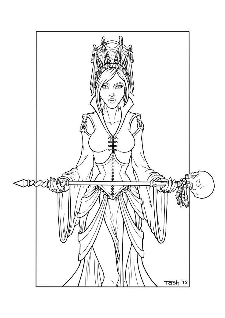 Priestess coloring #13, Download drawings
