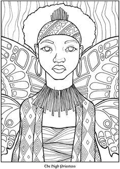 Priestess coloring #7, Download drawings