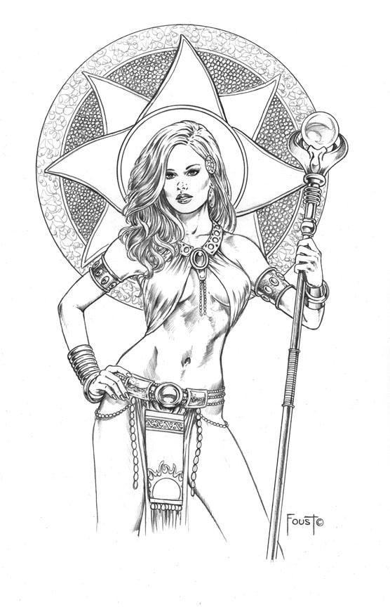 Priestess coloring #18, Download drawings