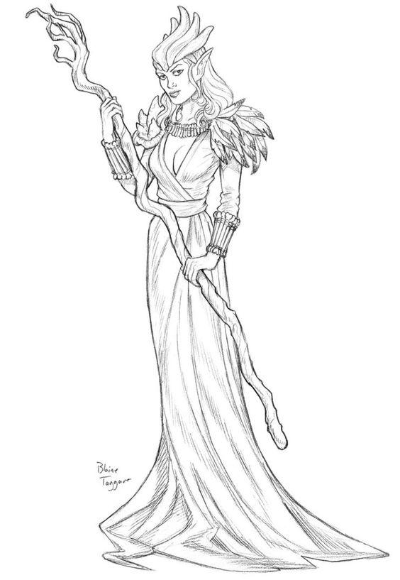 Priestess coloring #15, Download drawings