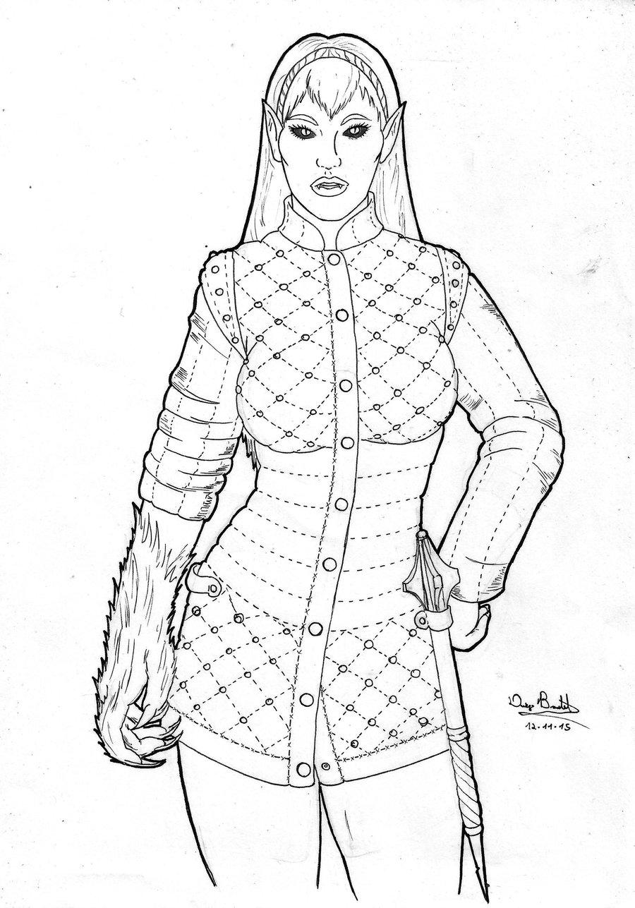 Priestess coloring #5, Download drawings